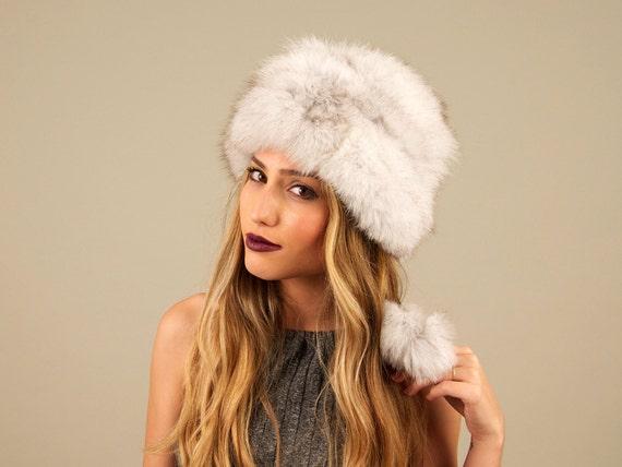Blue fox fur hat. Fox fur hat. Fur hat. Hat. Women s fur  5e7640049b3