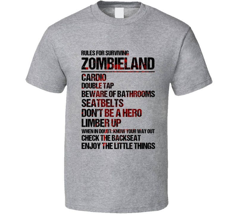Rules For Surviving Zombieland Cardio Double Tap Funny Cool Etsy