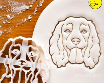Working Cocker Spaniel Face cookie cutter - Bake cute dog treats for doggy party