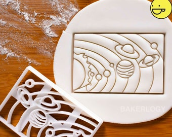 Solar System cookie cutter | Bakerlogy biscuit cutters Sun universe space galaxy planetary planets Jupiter Saturn stars astronomy
