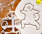 Yoga Dog Warrior Pose 2 cookie cutter biscuit biscuits cutters Virabhadrasana fitness exercise poses puppy pupcake doggy treats Bakerlogy