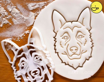 German Shepherd Face cookie cutter  Bakerlogy dog biscuit cutters fondant adoption drive Veterinary Berger Allemand Deutscher Schäferhund