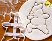 Yoga Pig Warrior Pose 2 cookie cutter biscuit biscuits cutters Virabhadrasana fitness exercise poses one of a kind cute ooak Bakerlogy