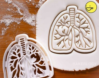 Anatomical Lungs cookie cutter biscuit cutters Gifts pulmonologist pulmonary lung Pulmonology medical students ooak no smoking copd campaign