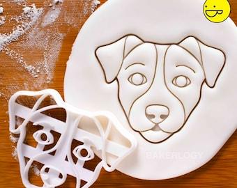 Jack Russell Terrier's Face cookie cutter   dog biscuit clay Fox Terrier Terriers Parson Russells JRT hunting vet veterinary veterinarian