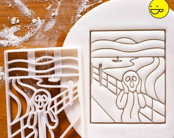 The Scream cookie cutter | biscuit fondant cutters psychological Expressionist art gift