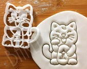 Lucky Cat cookie cutter Maneki-neko beckoning cats paw 招き猫 wishing goal biscuit cutters traditional good luck charm success Japanese craft