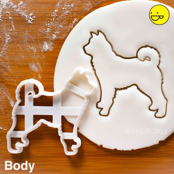 Mini Schnauzer Face cookie cutterdog portrait birthday treats cute puppy vet