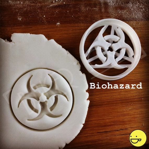 Biohazard Other Science Symbols Cookie Cutters Biscuit Etsy