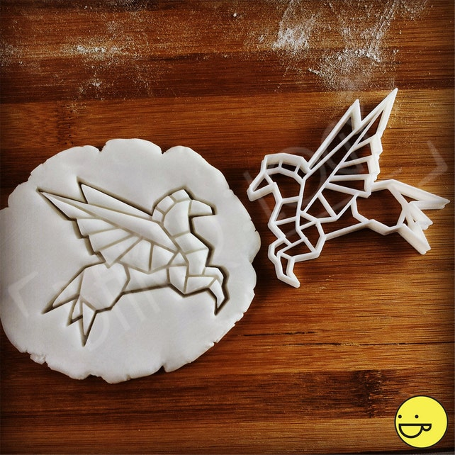 Origami Pegasus Cookie Cutter Biscuit Cutters One Of A Etsy