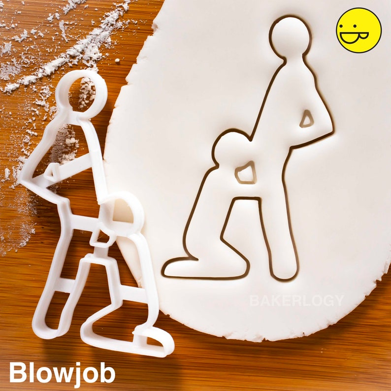 Gay Blow Job cookie cutter Doggy position kama sutra biscuit dough fondant clay one of a kind ooak MATURE
