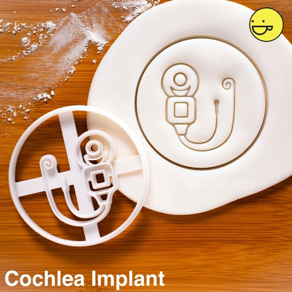 Hearing Aid cookie cutter Outer Human Ear Medical Device audiologists hearing loss aids deaf awareness biscuit cutter Bakerlogy