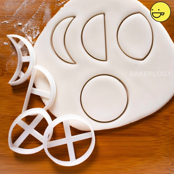 Biscuit Play dough Pastry Moon Crescent Cookie Cutter Set Fondant Cutter UK