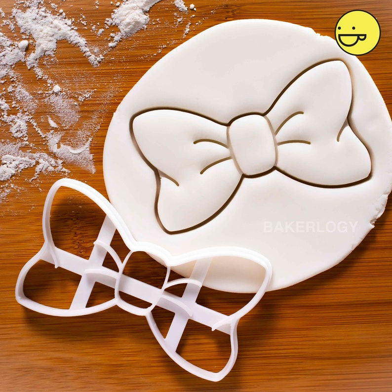 Beautiful Bow Tie Cookie Cutter  with gorgeous emboss detail image 0