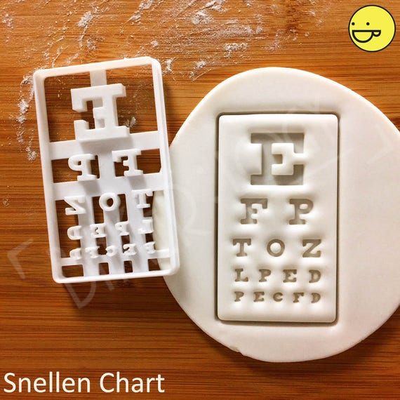 Snellen Chart Cookie Cutter Eye Chart Exam Biscuits Cutters Etsy