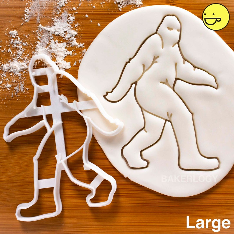 Bigfoot Sasquatch Cookie Cutters Biscuits Cutter Ooak Big Foot Sighting Evidence Yeti Abominable Snowman Cryptid Bakerlogy