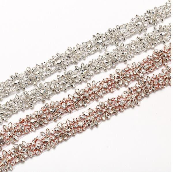 Ceinture de mariée cristal strass strass cristal perles applique strass Applique de mariée robe de la mariée accessoires ceinture mariée ceinture bandeau bretelles H0140 fe8809