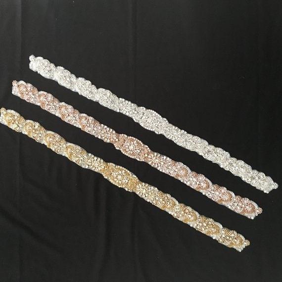 Appliques de ceinture strass cristal Couture strass Applique de mariée accessoires mariage robe Sash Couture cristal corsage col H0163 3d7f7c