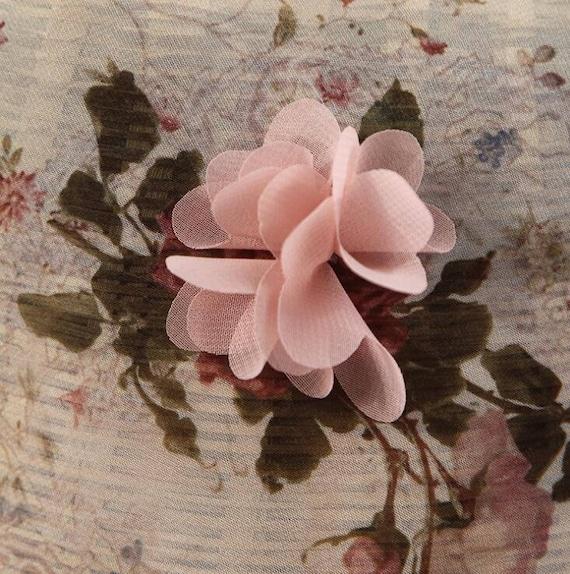 Tissu de mousseline de soie rose Rosette tissu tissu Rosette impression dentelle dentelle tissu mariée robe nuptiale 3D mariage dentelle tissu 1 verge S0375 2a6720