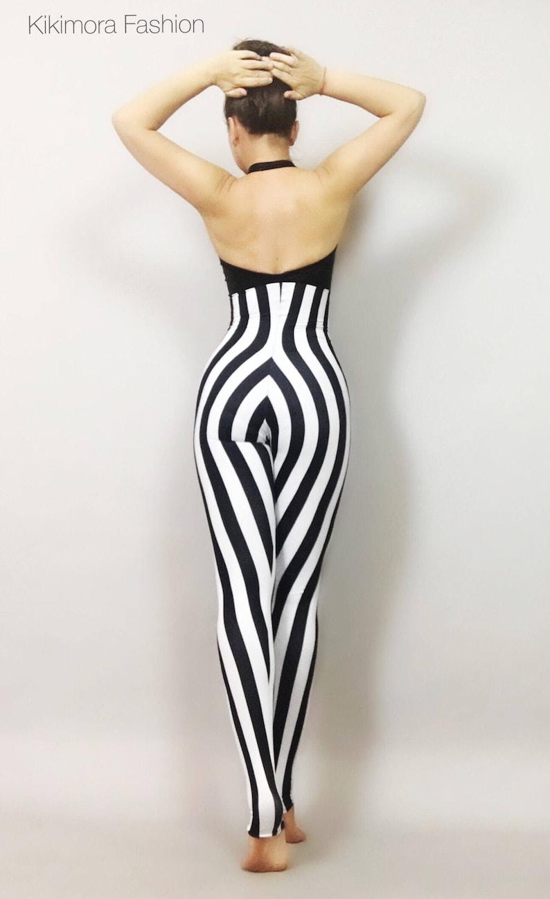 c220e517514c Stripe Circus bodysuit costume    high waist i   jumpsuit