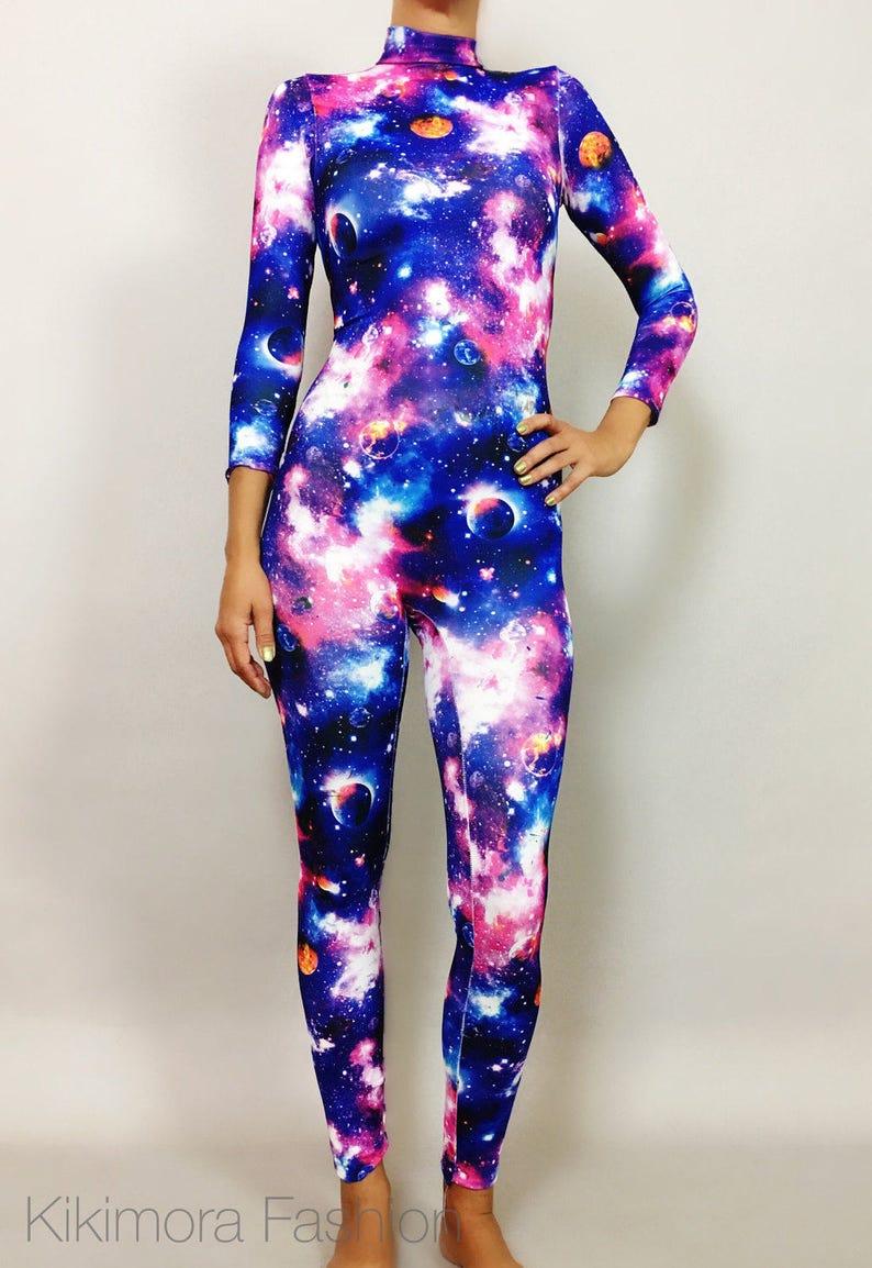 11d25e9b7c Catsuit Bodysuit Unitard. Cosmos. Galactic. black light.