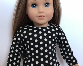 White polka dot sweater for american girl dolls