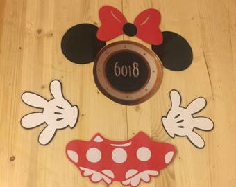 Minnie Mouse stateroom cruise door laminated magnet body set