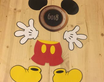Mickey mouse laminated magnet set for stateroom cruise door