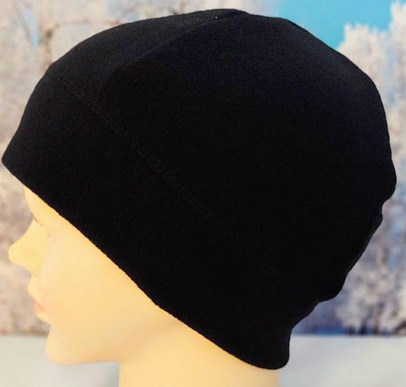 f73d50947b37f6 Boys Fleece Hats Winter Hats for Boys Fleece Black Beanie | Etsy