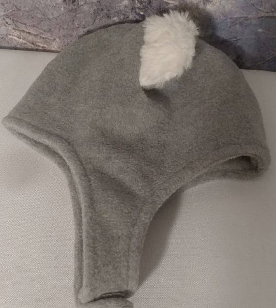 Gray Baby Boy Hat Baby Hat with Earflaps Baby GrayTrapper  dc1b7936e76