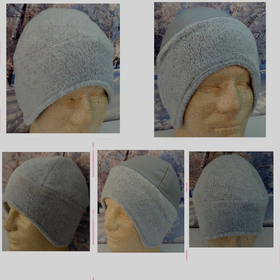 Gray Trapper Hat Heather Gray Beanie Light Gray Ear Flaps  c8a6df01c8a