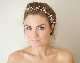Pearl Wedding Hair Vine