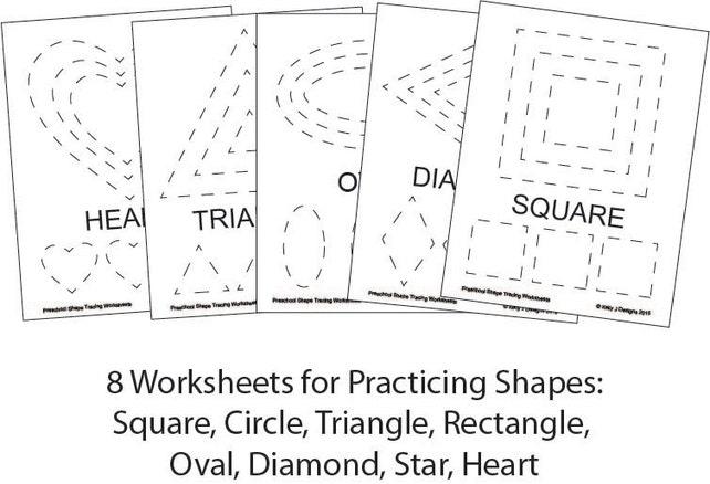 Preschool Shape-Tracing Worksheet PDF Printables | Etsy