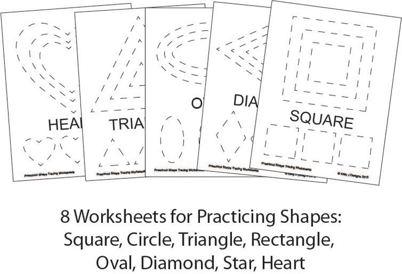 Preschool Shape-Tracing Worksheet PDF Printables