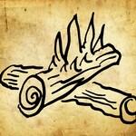 Vintage Camping Fire Clipart Lineart Illustration Instant Download PNG JPG Digi Line Art Image Drawing L275