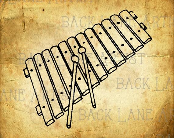 ähnliche Artikel Wie Jahrgang Xylophon Musik Instrument Clipart