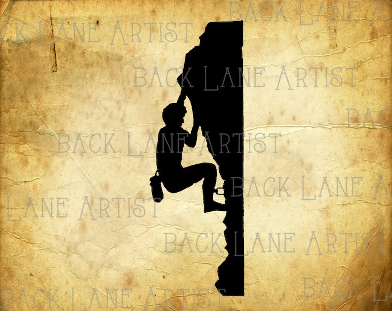 Rock Climbing Mountain Climbing Sports Silhouette Clipart image 0