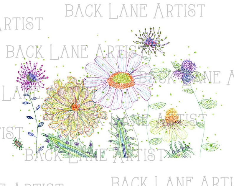 Floral Flowers Wedding invitation Watercolor Drawing Clipart image 0