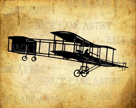 ähnliche Artikel Wie Jahrgang Doppeldecker Flugzeug Clipart