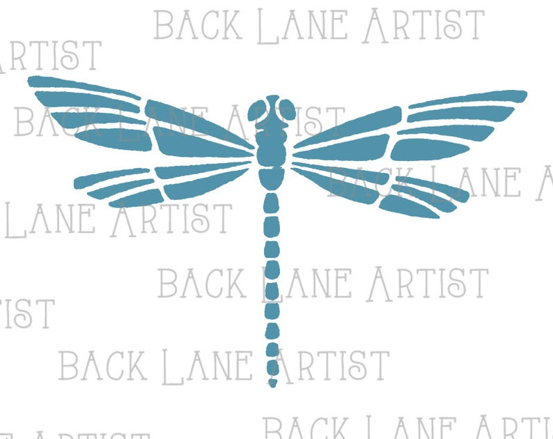 Dragonfly Clipart Lineart Illustration Instant Download PNG image 0