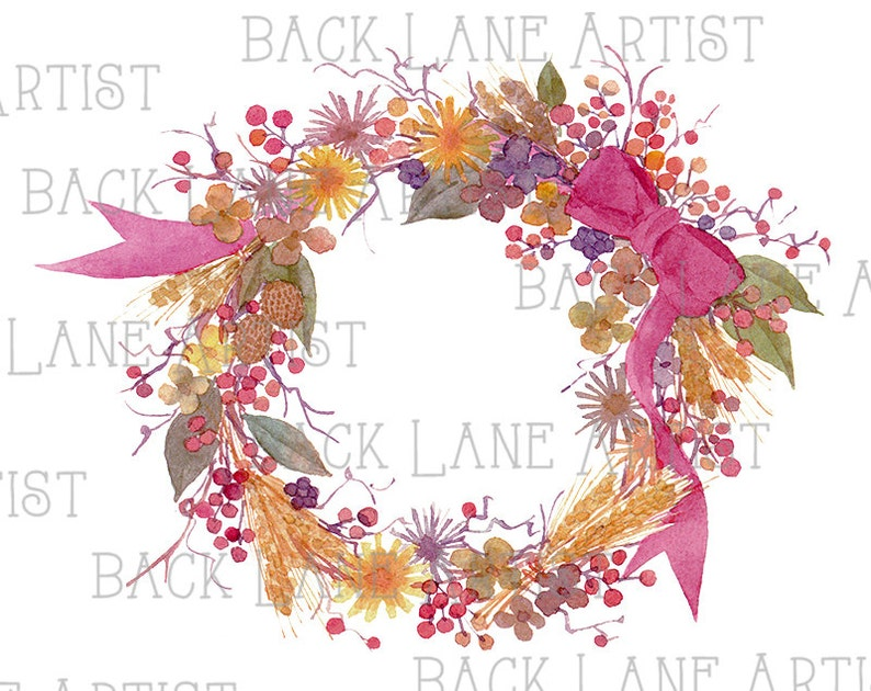 Floral Wreath Flowers Frame Wedding invitation Watercolor image 0