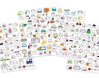 Planners Erin Condren Doughnut or Donut Variety Sticker Set Bullet Journal