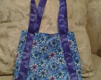 cabas violet et bleu