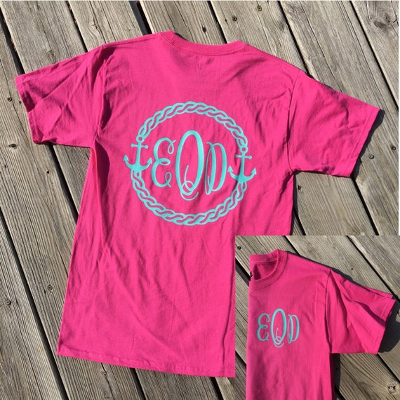 6b5771658 Monogrammed Anchor Shirt Womens Cruise Shirt Family Cruise | Etsy