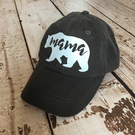 75755289107 Mama Bear Hat Distressed Baseball Cap Mom Hat Mama Hat