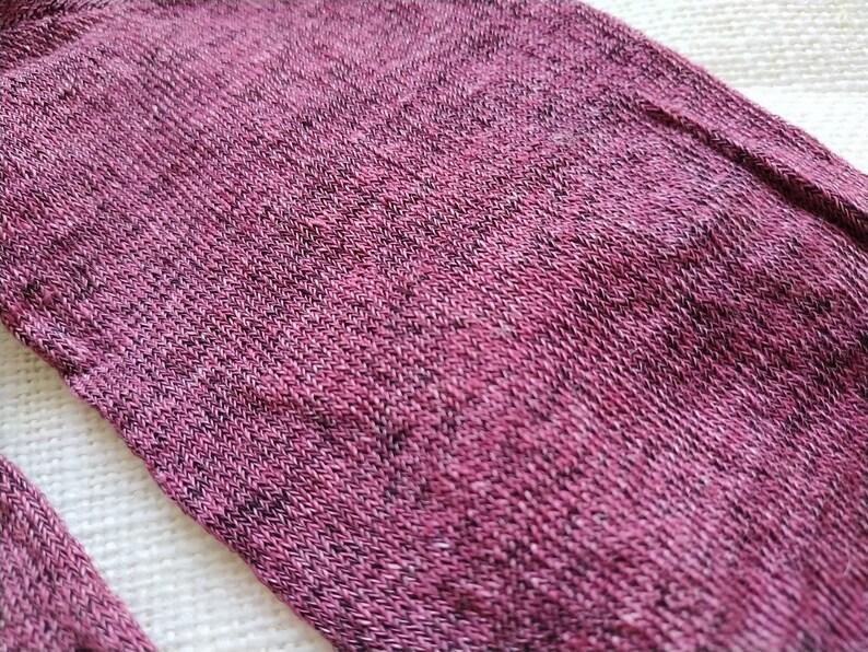Antibacterial socks linen Linen large burgundy socks Eco menswoman