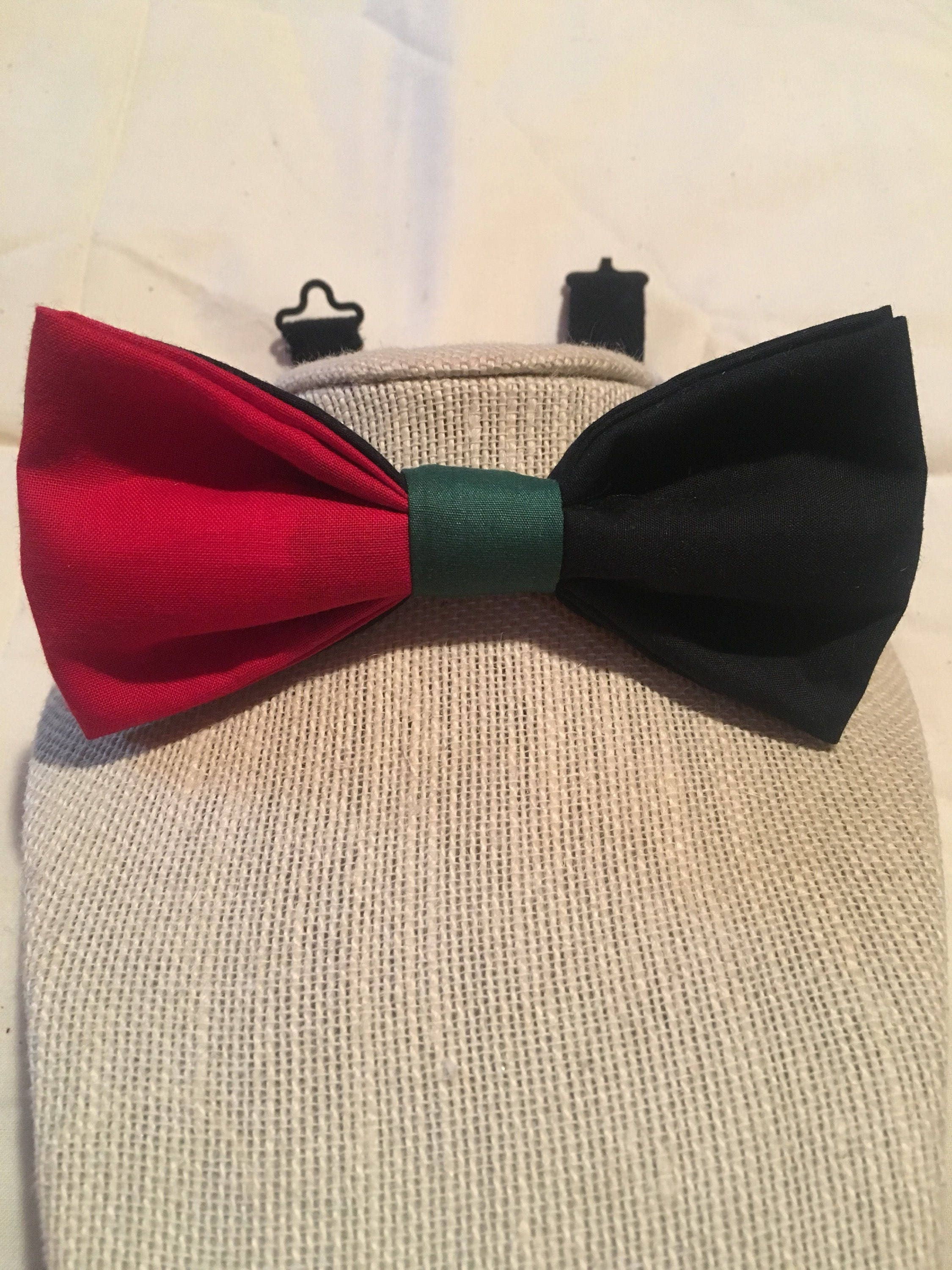 Black history month bow tie Pan-African bow tie red black   Etsy