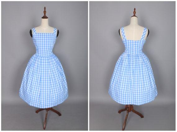 Lana Dress Light Blue 12 inch Checkered Gingham