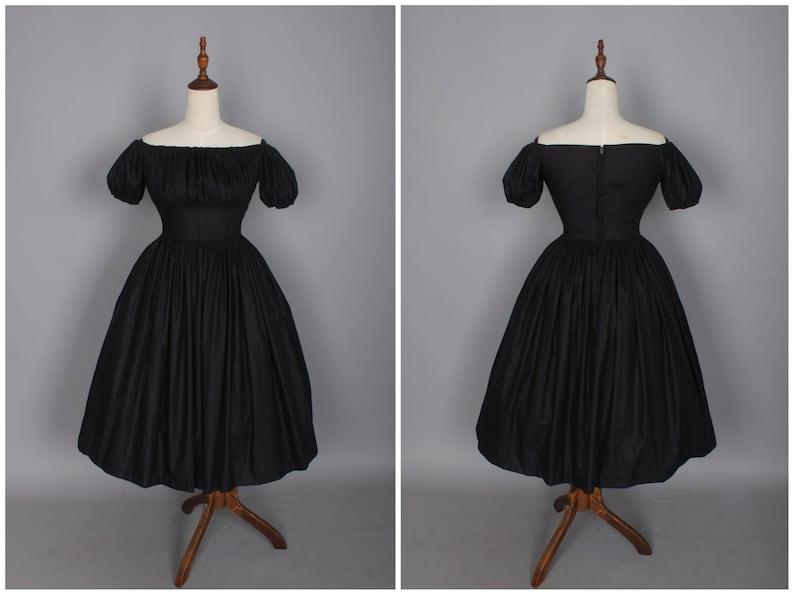 5e5ac02b Loretta Dress in Solid Raven Black | Etsy