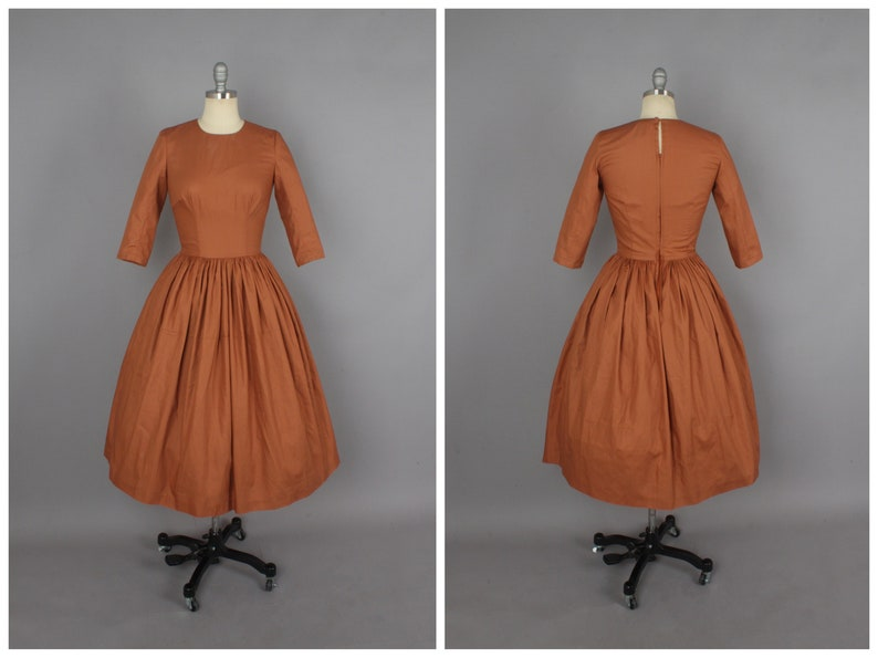Marianne Dress in Solid Chocolate Brown COTTON
